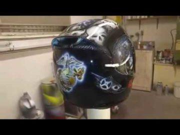 Custom Airbrushed Marine Corps Helmet