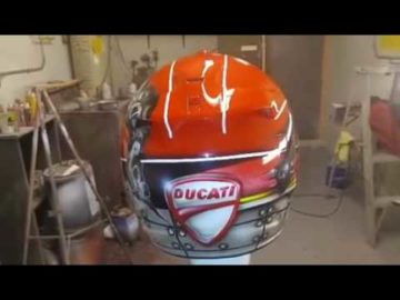 Custom Airbrushed Motorcycle Racer Helmet